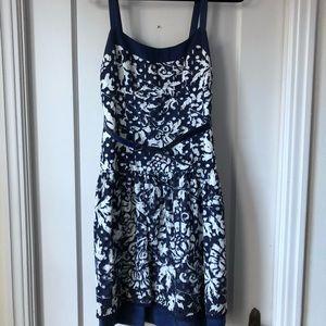 Cynthia Steffe blue and white dress