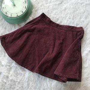 American Apparel Corduroy Skater Skirt Small Hip