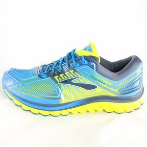 cae911a6c48 Brooks Shoes - BROOKS GLYCERIN 13 Blue Lime Light Running Shoes