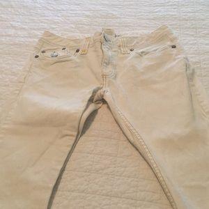 Super cute white BR jeans