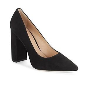 Pour La Victoire Celina Black Block Heel Pump