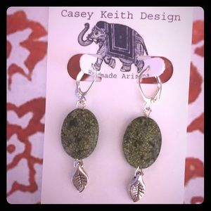 Serpentine Leaf Earring