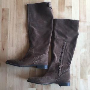 Zara Suede Brown Boots