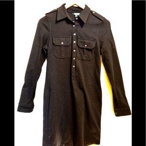 Never worn Ralph Lauren black shirt dress