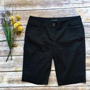 WHITE HOUSE BLACK MARKET Black Bermuda Shorts - 0