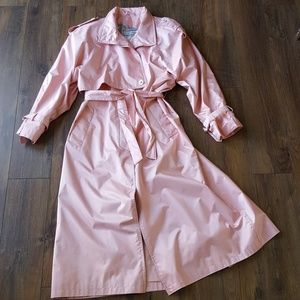 Pastel shimmery pink trench
