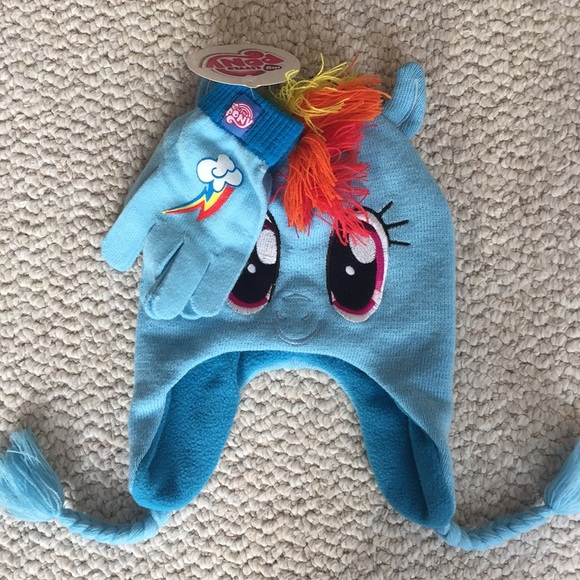 My Little Pony winter hat and gloves cdc76d74403