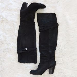 Vince Camuto Over the Knee Foldover Boots