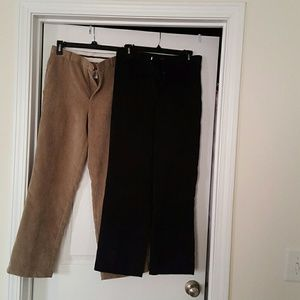 2 PAIR OF BOYS COURDORY IZOD PANTS