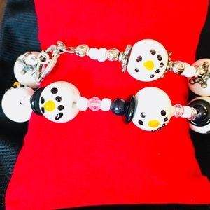 Jewelry - Mr. & Mrs. Snowman ⛄️ matching charm bracelets