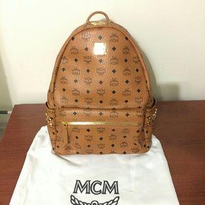 Mcm backpack brown  medium authentic