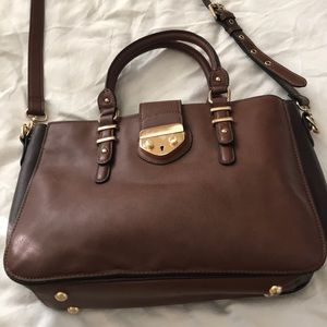 Clarks leather laptop bag. NWOT. Two tone leather.