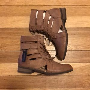 F21 laced up Boots
