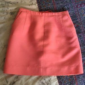 J. Crew Pink A-Line Skirt