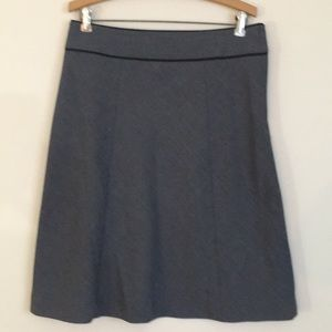 H&M 12 gray a-line skirt midi lined