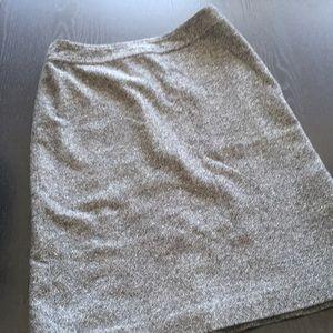 Gap Black Tweed Pencil Skirt