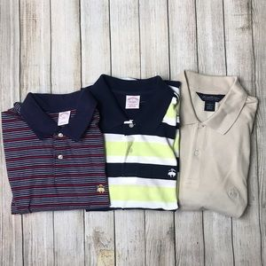 BUNDLE LOT brooks brothers classic polo shirt L