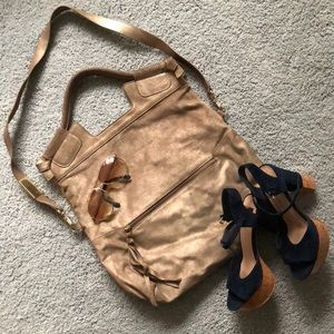 FOLEY & CORINNA bronze dusted convertible bag