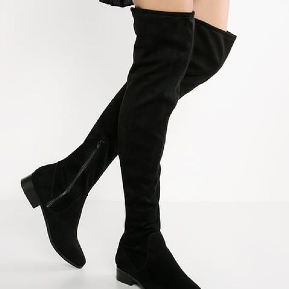 f274fc12788 Aldo Elinna Over The Knee Boots Size 7 Black