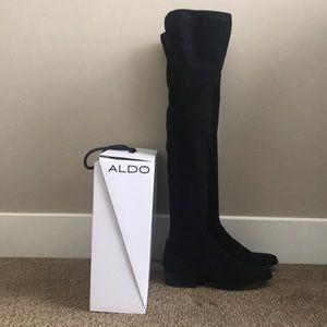 dc30b02bde3 Aldo Shoes - Aldo Elinna Over The Knee Boots Size 7 Black