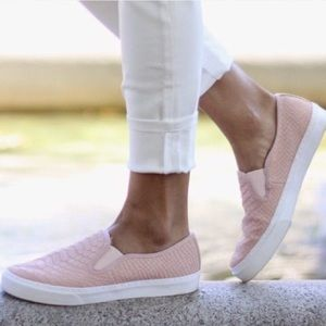 GAP Pink Snakeskin Side-On Sneaker
