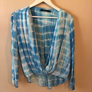 Ark & Co Tie Dyed Long Sleeve Boho Blouse