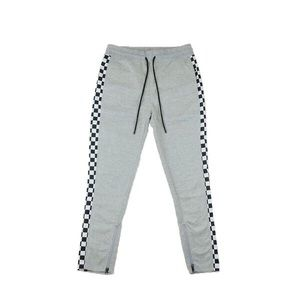Other - Checkered Track Pants - Grey