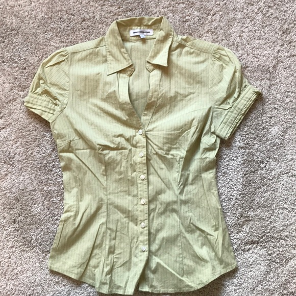 b14ed9b3b Express Tops | Womens Green Button Down Shirt | Poshmark