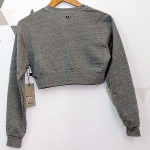 True Religion Tops - Cropped Sweatshirt - True Religion x Joan Smalls