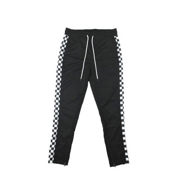 Other - 🚫Sold🚫Checkered Track Pants - Black