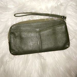 Handbags - Wrist army green leather wallet