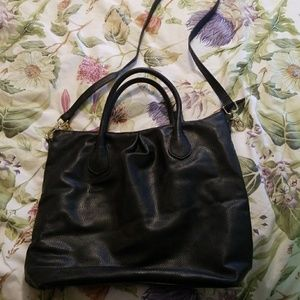 H&M faux leather crossbody hobo satchel