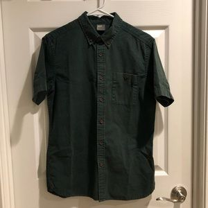 ASOS Short Sleeve Button Down Dark Green
