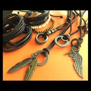 Other - Leather Necklaces and Bracelets (Boho Inspired)