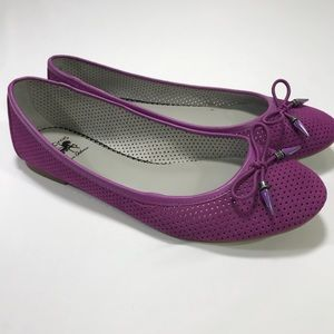 Cicus by Sam Edelman Purple Ali Leather Flats
