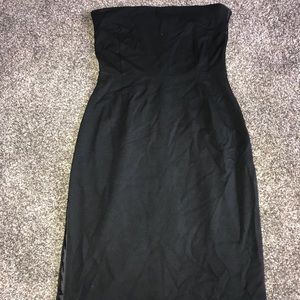 Strapless Black Dress from The Gap