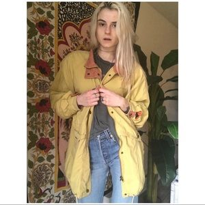 // 1980's Oversized Canary Anorak //