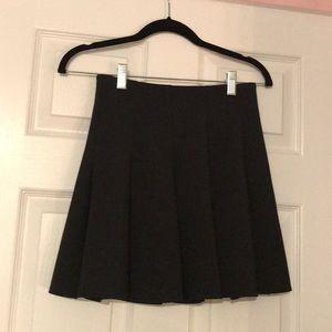 Top shop black pleated skater skirt