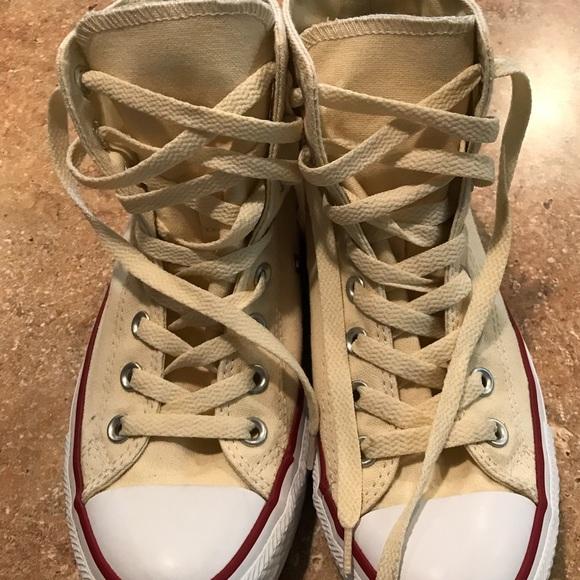 b5c86634e34693 Converse Shoes - Light yellow high-top Converse