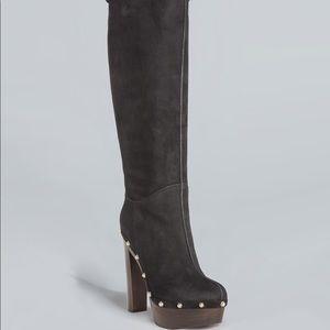 cb84910fb Gucci Shoes | Black Suede Joplin Shearling Clog Boots | Poshmark