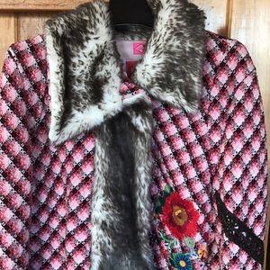 Oilily faux fur trim jacket