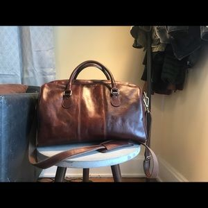 Other - Old Angler Italian Leather Weekender Duffle Bag