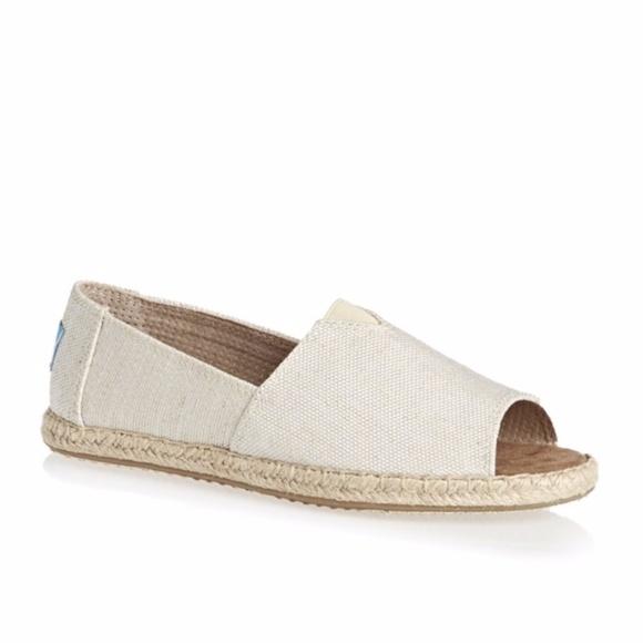 149b8de55a3ab TOMS Alpargata Open Toe ESPADRILLES Shoes 10 Vegan.  M_5a246808291a35f575090ab5