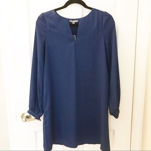 NWT Tinley Road Blue Long Sleeve Dress Small