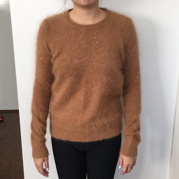 Madewell - Alexa Chung for Madewell brown fuzzy Sweater. from ...