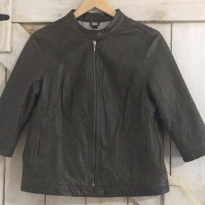 Emu m olive sandgate leather jacket