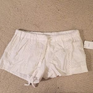 White shorts from urban outfitters. By Kimchi Blue