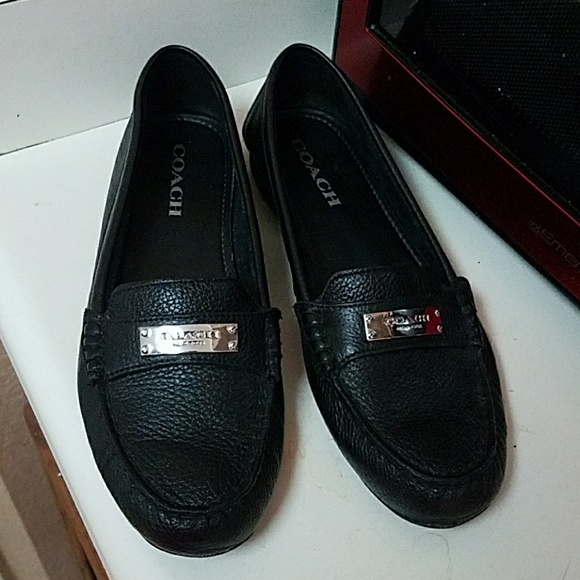 202037b01ce Coach Shoes - Coach Fredrica loafer black pebble leather size 8B