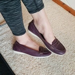 Timberland Purple Leather Loafer Flats