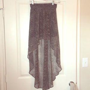 Ecote High Low Tribal Print skirt